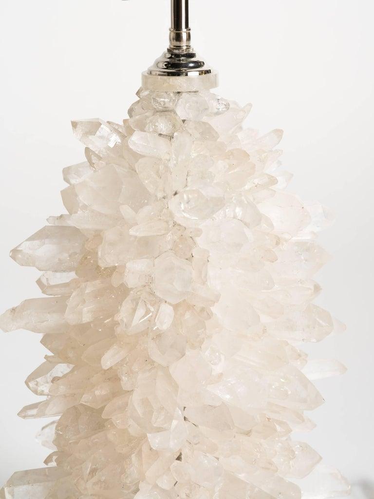Contemporary Rock Crystal Cluster Quartz Lamps For Sale