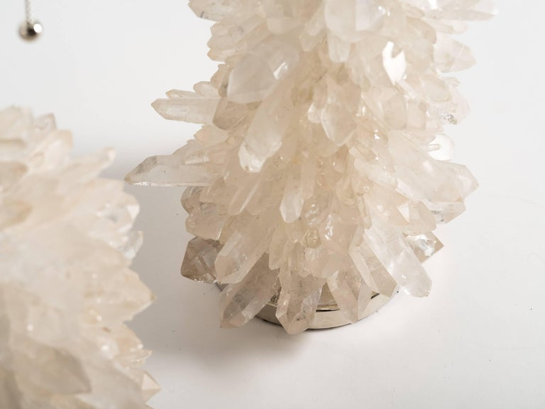 Rock Crystal Cluster Quartz Lamps For Sale 1