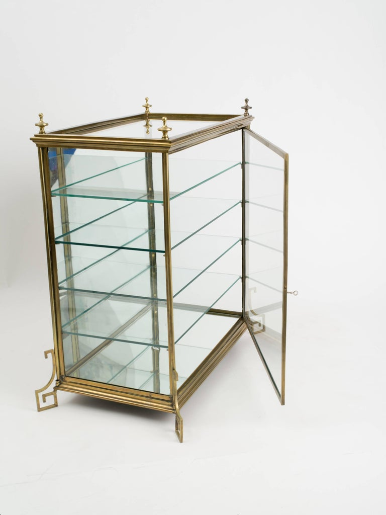 Italian Brass And Glass Display Cabinet For Sale At 1stdibs