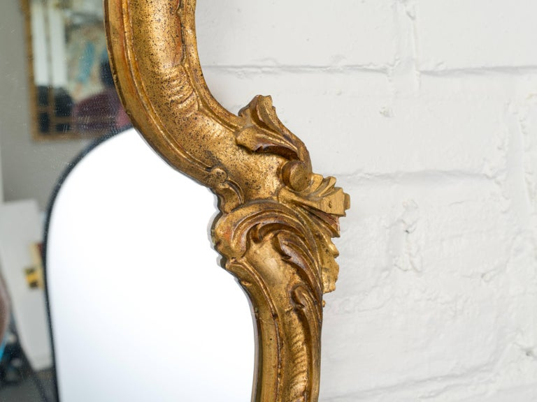 20th Century Antique Italian Giltwood Mirror For Sale