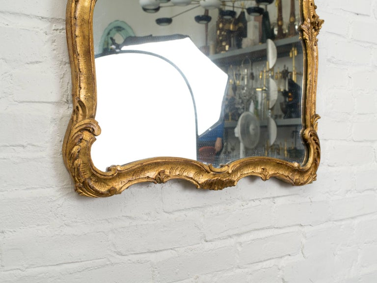 Antique Italian Giltwood Mirror For Sale 1
