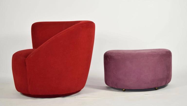 Vladimir Kagan Corkscrew/Nautilus Chair With Ottoman 3