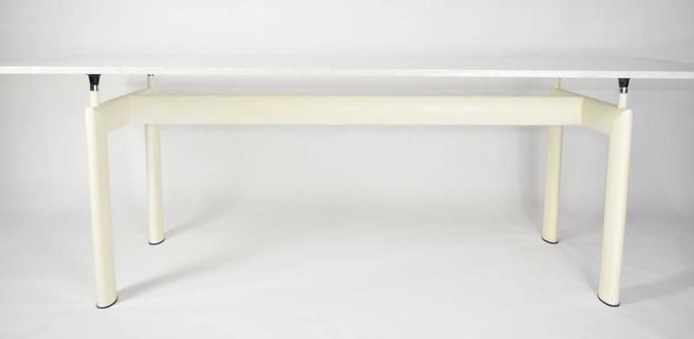 Le Corbusieru0027s LC6 Table By Cassina With A White Marble Top. Table Base  Features Adjustable