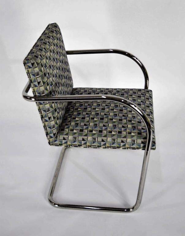 Upholstery Set of Ten Tubular Brno Chairs by Knoll For Sale