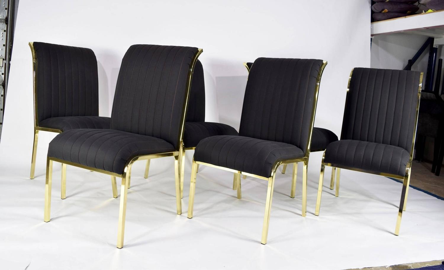 Set of Six Design Institute of America DIA Dining Chairs