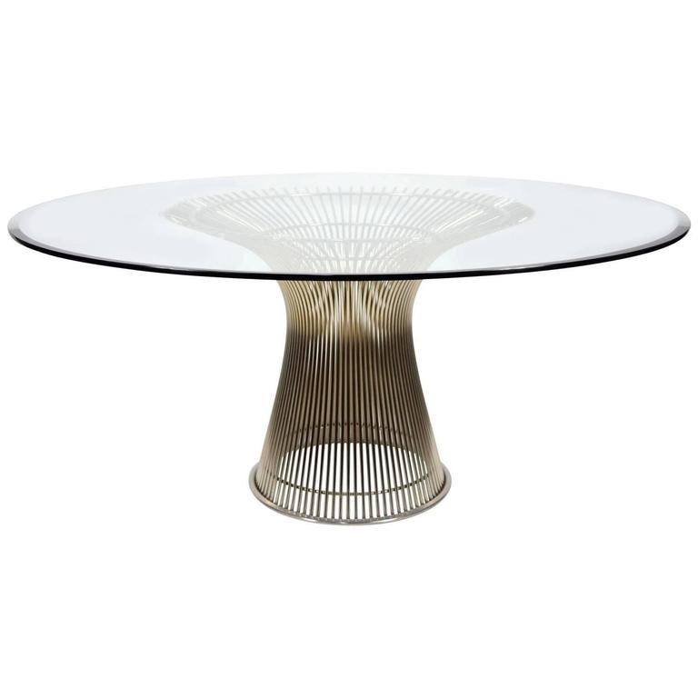 Warren Platner for Knoll Nickel Plated Dining Table at 1stdibs : 3778292zl from www.1stdibs.com size 768 x 768 jpeg 21kB