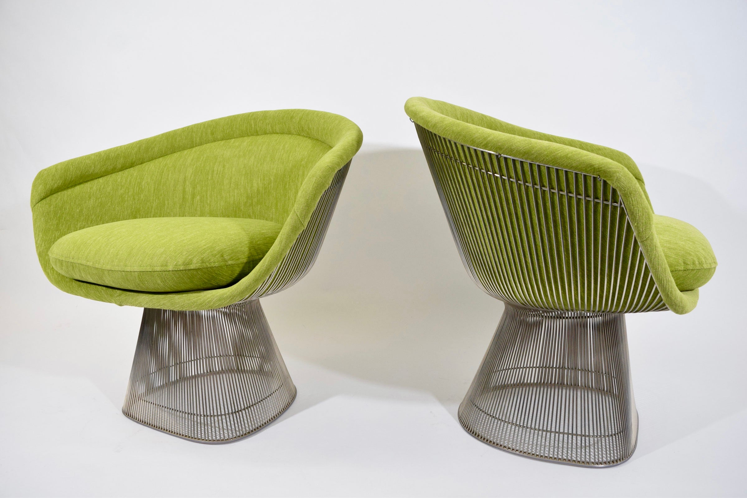 Pair Of Warren Platner Lounge Chairs In Holly Hunt Great