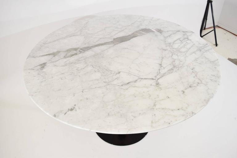 Early Eero Saarinen For Knoll Tulip Table Base With Marble Top 3