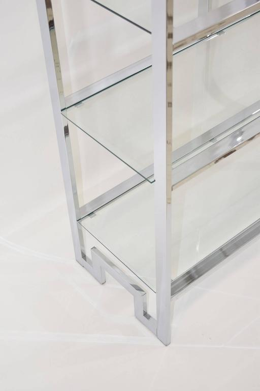 Milo Baughman Chrome and Glass Etagere In Excellent Condition For Sale In Dallas, TX