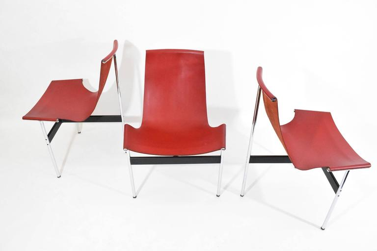 American Set of Six T-Chairs by Katavolos, Little and Kelly For Sale