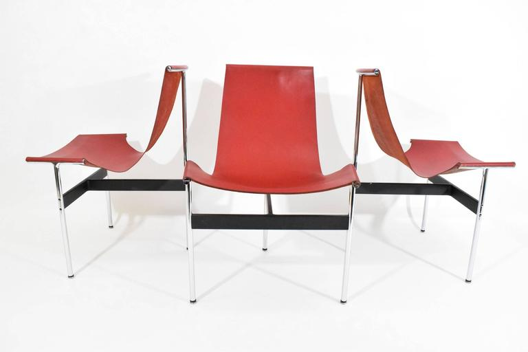 20th Century Set of Six T-Chairs by Katavolos, Little and Kelly For Sale