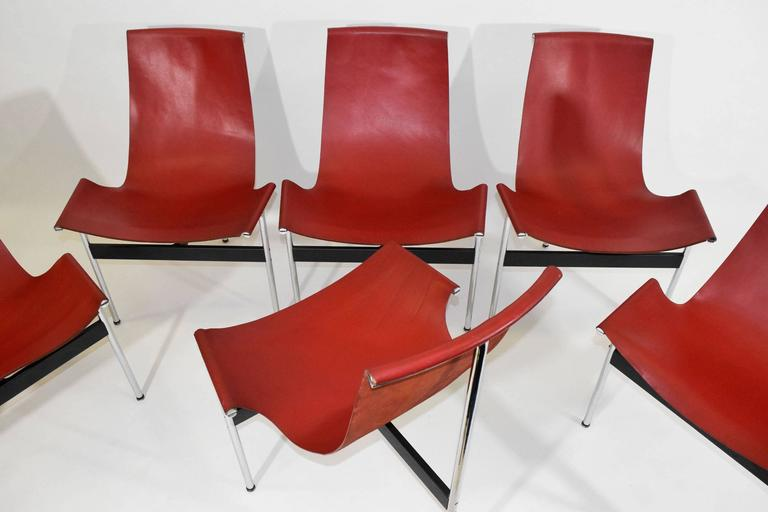 Mid-Century Modern Set of Six T-Chairs by Katavolos, Little and Kelly For Sale