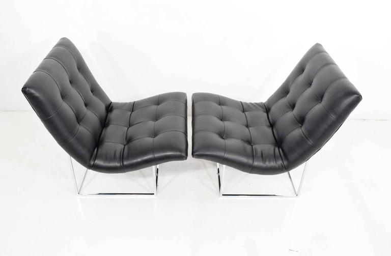 Mid-Century Modern Pair of Milo Baughman for Thayer Coggin Lounge Chairs For Sale