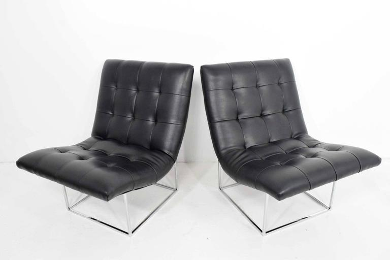 American Pair of Milo Baughman for Thayer Coggin Lounge Chairs For Sale