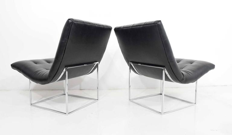 20th Century Pair of Milo Baughman for Thayer Coggin Lounge Chairs For Sale