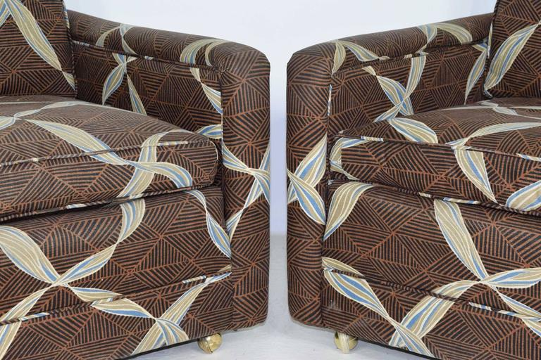 Pair of Dunbar Lounge Chairs In Good Condition For Sale In Dallas, TX