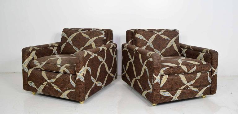 Mid-Century Modern Pair of Dunbar Lounge Chairs For Sale