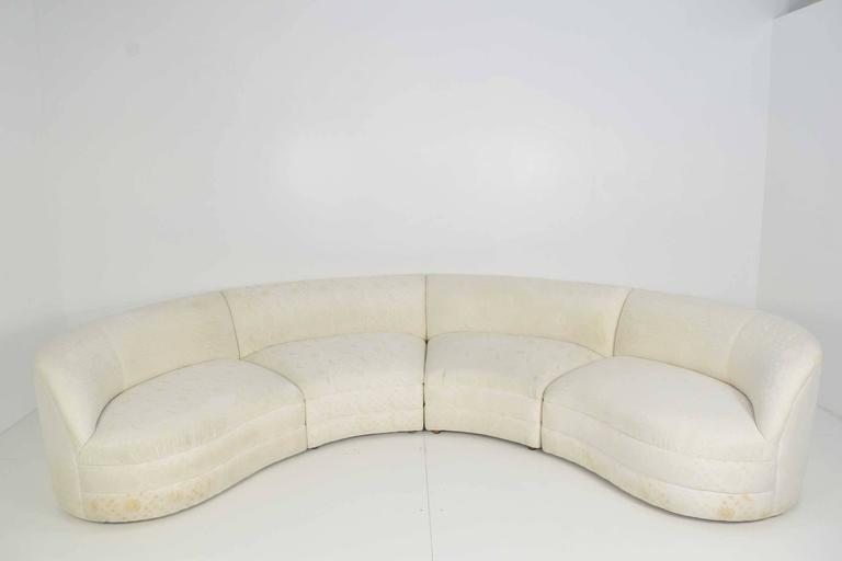 This Sofa Was Designed By Vladimir Kagan For Cantoni It Is Four Sections With Alligator