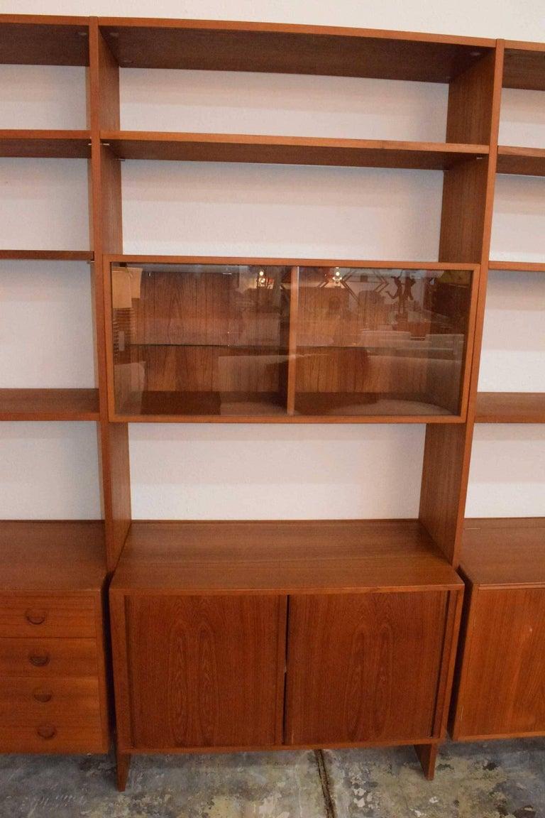 Hg Furniture Large Teak Modular Wall Unit At 1stdibs