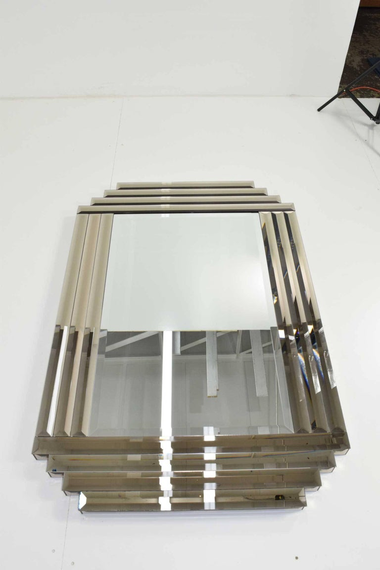 Large beveled glass mirror for sale at 1stdibs for Tall glass mirror