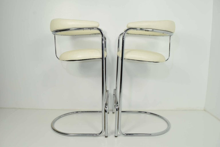 20th Century Bar Stools by Anton Lorenz for Thonet For Sale