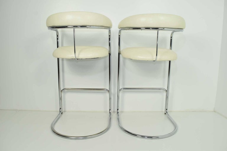 Bar Stools by Anton Lorenz for Thonet In Excellent Condition For Sale In Dallas, TX