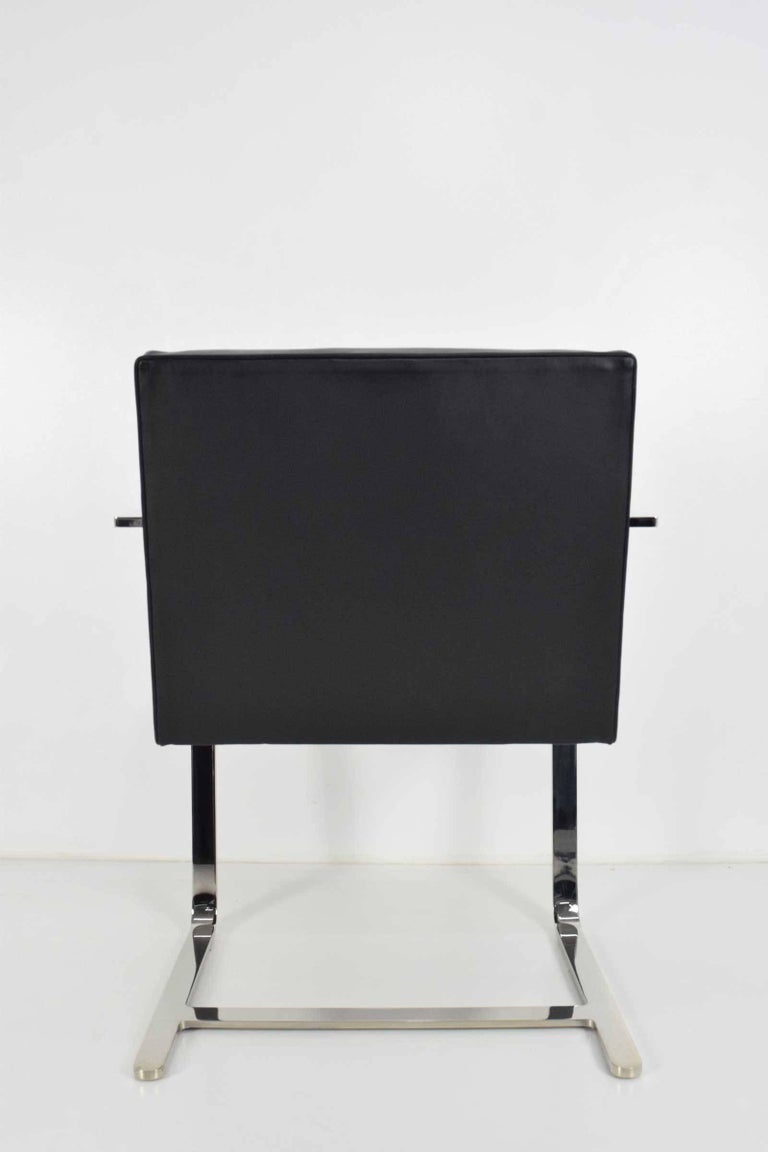 Flat Bar Brno Chairs by Mies van der Rohe for Knoll For Sale 1