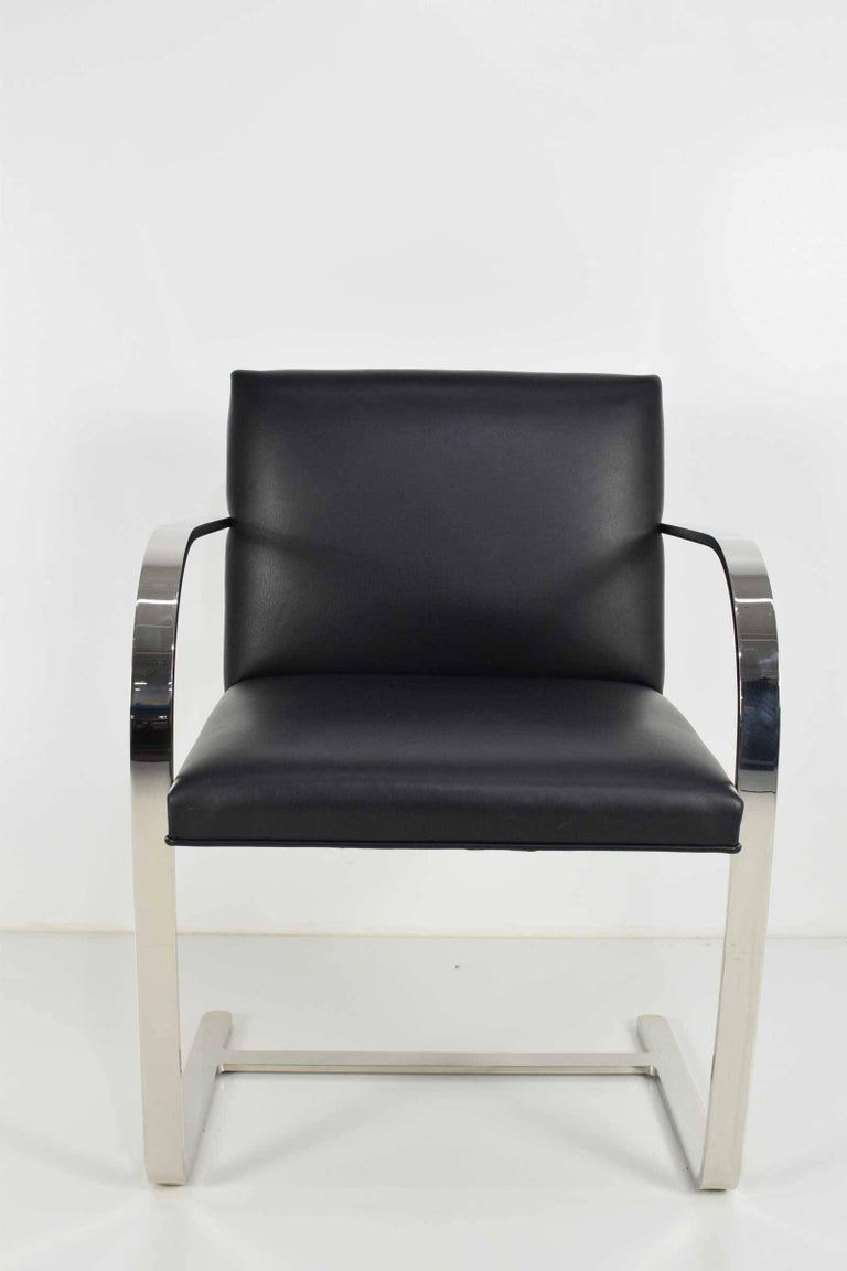 American Flat Bar Brno Chairs by Mies van der Rohe for Knoll For Sale