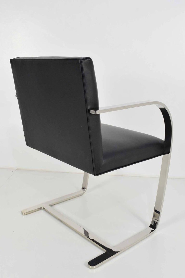 20th Century Flat Bar Brno Chairs by Mies van der Rohe for Knoll For Sale