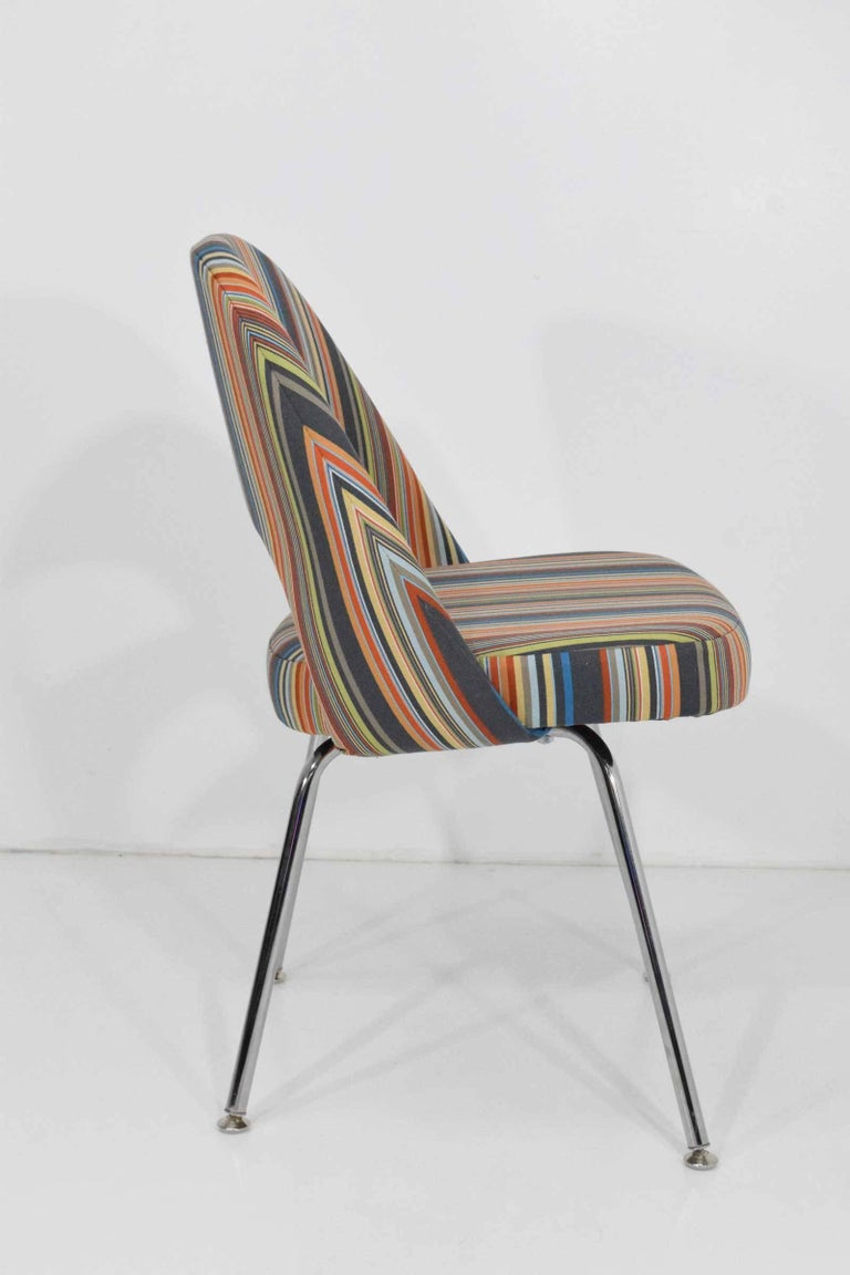 We have a set of 15 chairs by Eero Saarinen for Knoll. Upholstered in Stripes by Paul Smith ($135/yard). We can sell in smaller lots if desired.