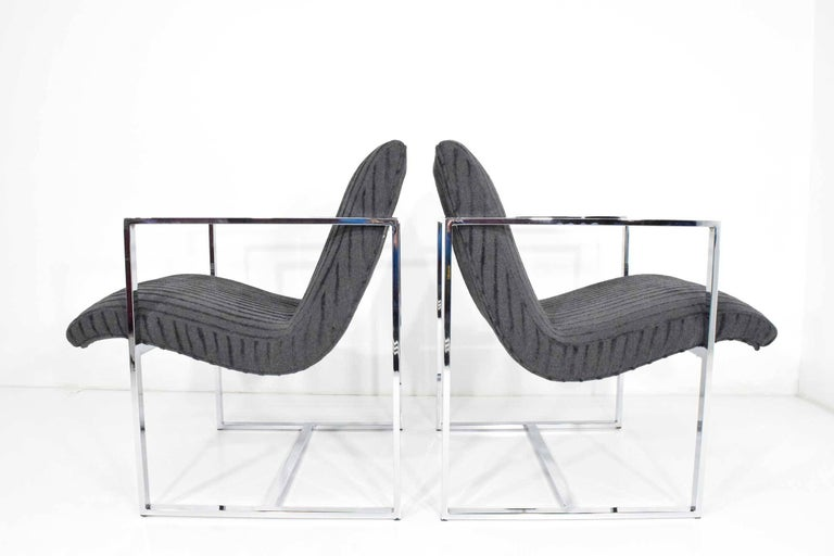Milo Baughman Scoop Lounge Chairs In Excellent Condition For Sale In Dallas, TX