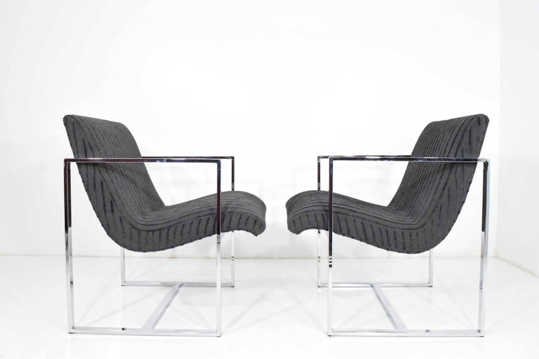 Milo Baughman Scoop Lounge Chairs For Sale 1