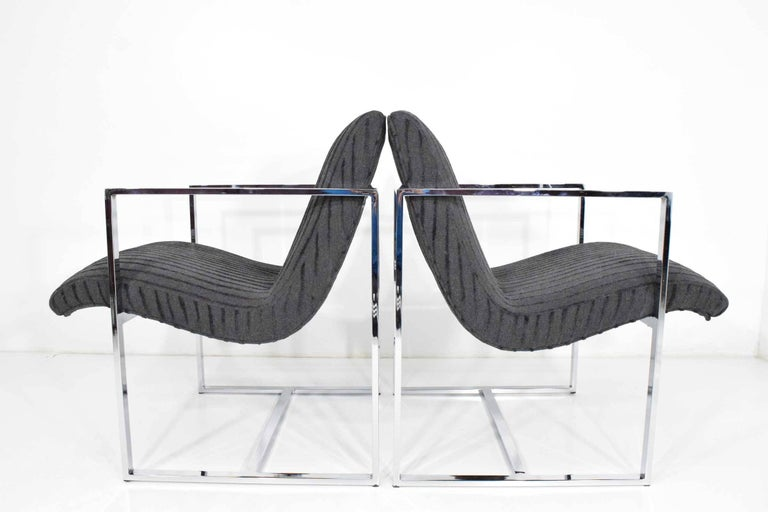 Milo Baughman Scoop Lounge Chairs For Sale 3