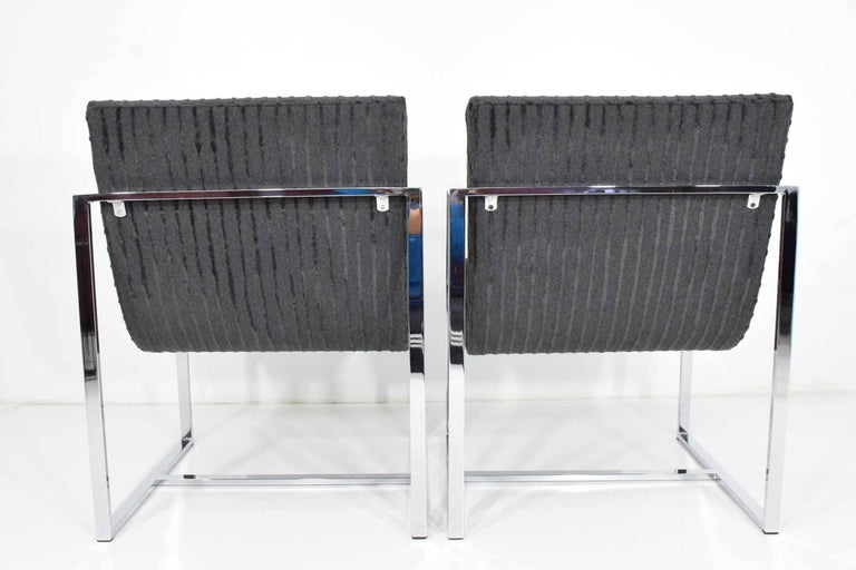 20th Century Milo Baughman Scoop Lounge Chairs For Sale