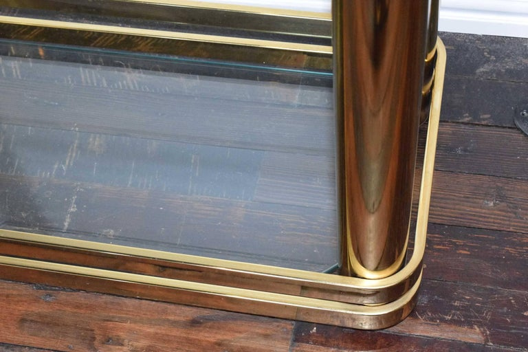 Pair of Brass Finish Etageres Attributed to Mastercraft For Sale 2