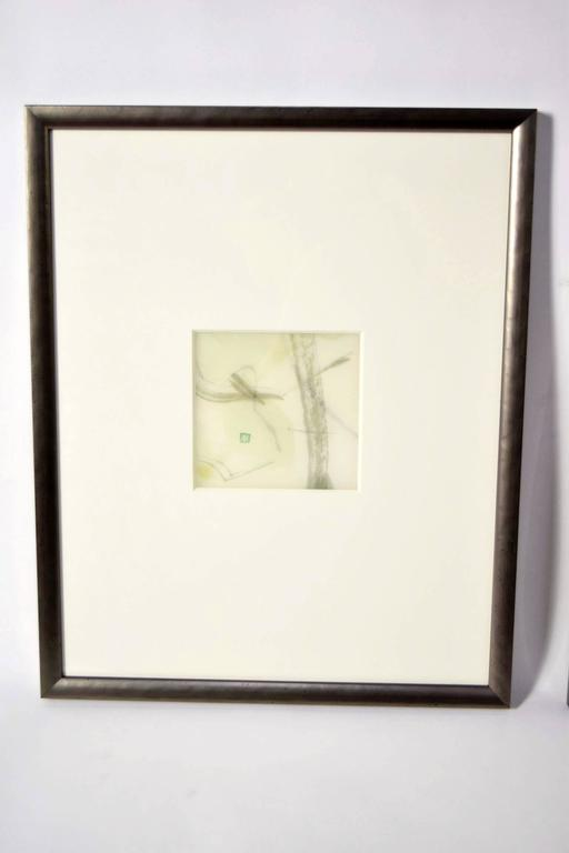 Japanese Pair of Artworks by Chaco Terada For Sale