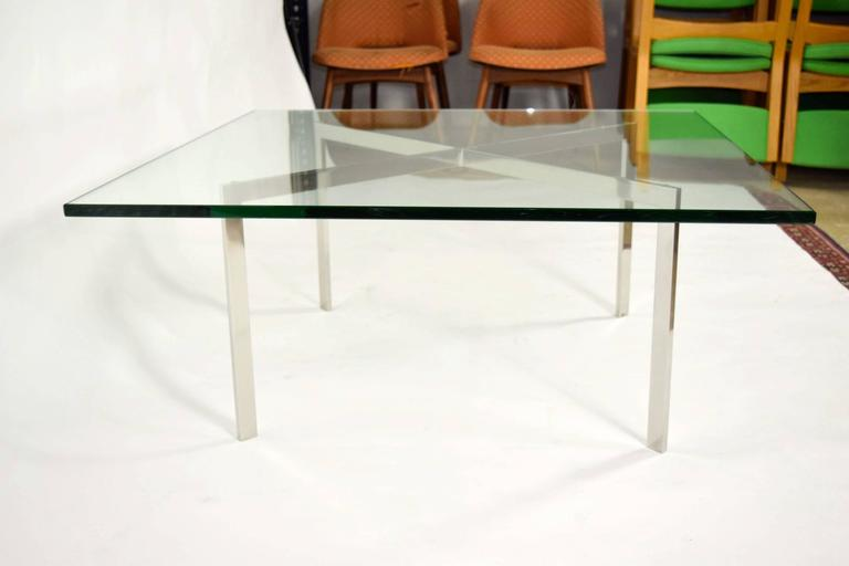 barcelona table by mies van der rohe for knoll at 1stdibs. Black Bedroom Furniture Sets. Home Design Ideas