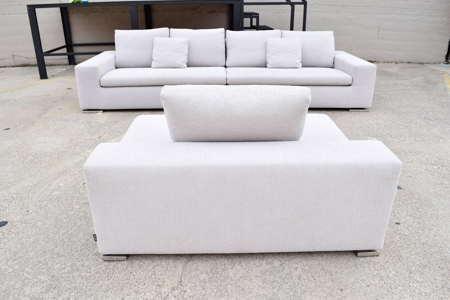 Minotti quotmoorequot three piece sectional sofa by rodolfo for Separate sectional sofa pieces