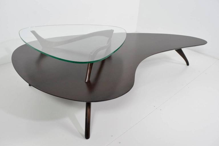 Two Tier Kidney Shaped Coffee Table At 1stdibs