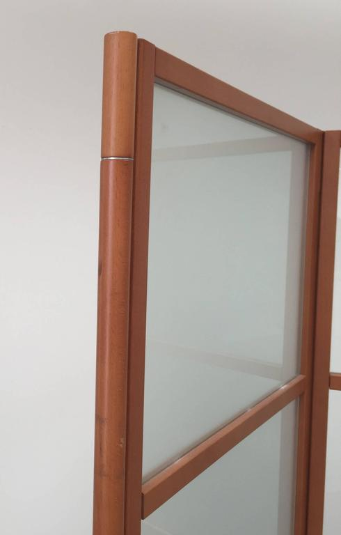 American Contemporary Three-Panel Maple Screen For Sale