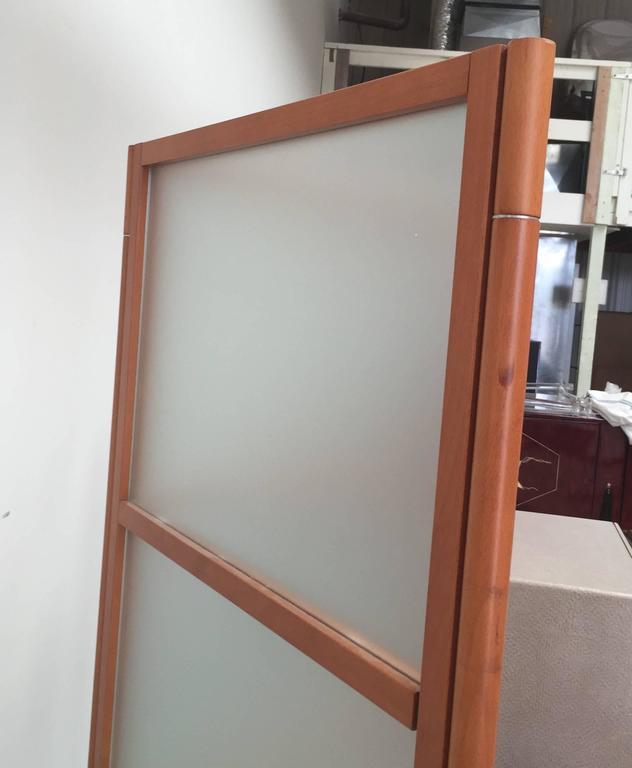 20th Century Contemporary Three-Panel Maple Screen For Sale