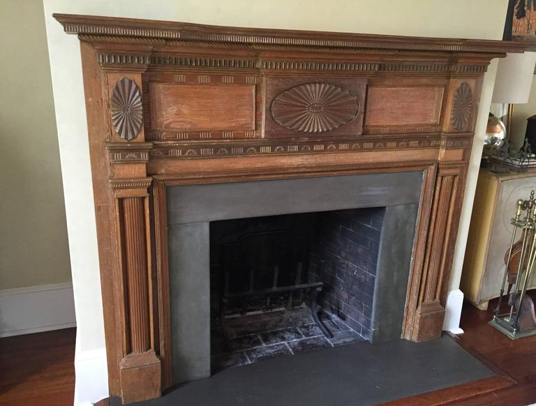 Early 1800s Federal Mantel with Sunburst Motif For Sale at ...
