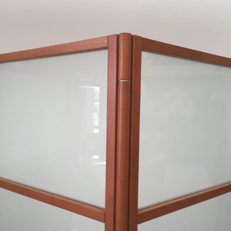 Woodwork Contemporary Three-Panel Maple Screen For Sale