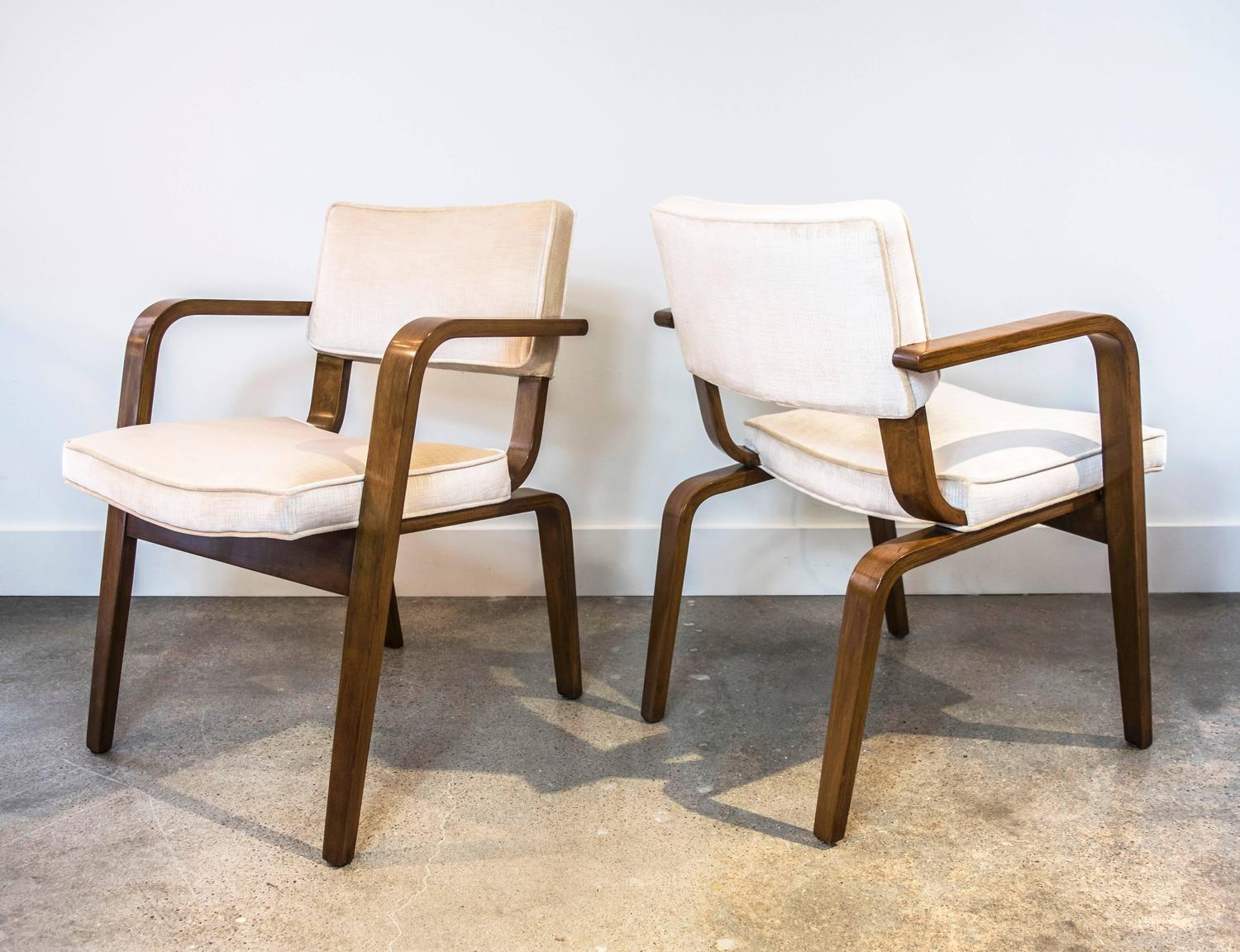 set of six thonet bentwood and upholstery dining chairs for sale at