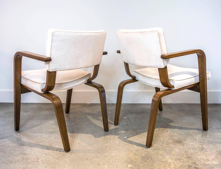 this pair of thonet bentwood and upholstery dining chairs is no longer