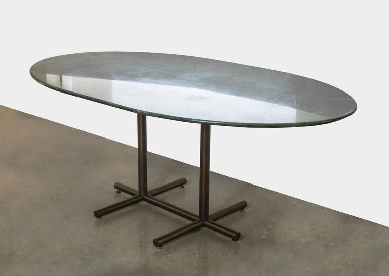 Vintage Dark Green Marble Dining TableDesk For Sale at  : 17l from www.1stdibs.com size 768 x 546 jpeg 25kB