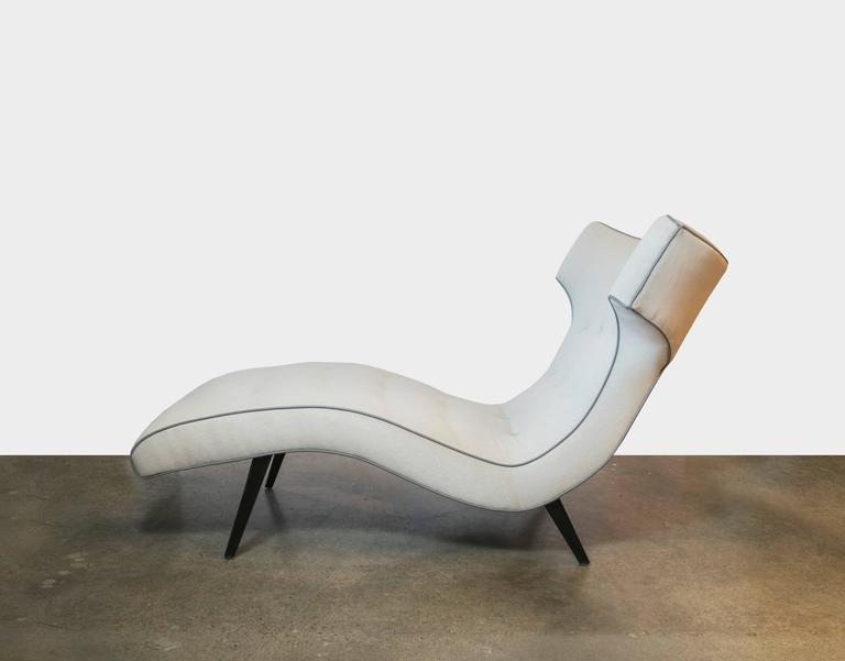 Handsome 1950s oxen shaped chaise lounge at 1stdibs for 1950 chaise lounge