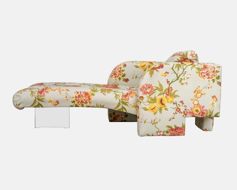 vladimir kagan omnibus chaise longue with singular plexi. Black Bedroom Furniture Sets. Home Design Ideas
