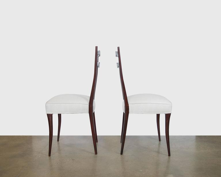 Set of Six Italian Mid-Century Dining Chairs in the Style of Ico Parisi In Excellent Condition For Sale In Houston, TX