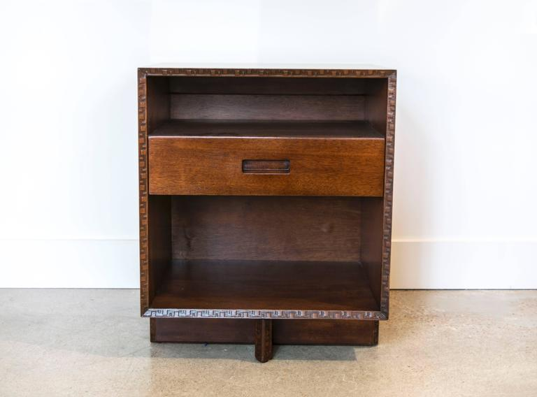 Frank Lloyd Wright Single Drawer Two Shelf Taliesin Nightstand At 1stdibs